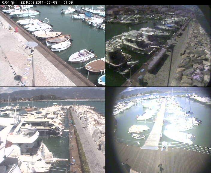 Ameglia webcam - Bocca di Magra webcam, Liguria, La Spezia